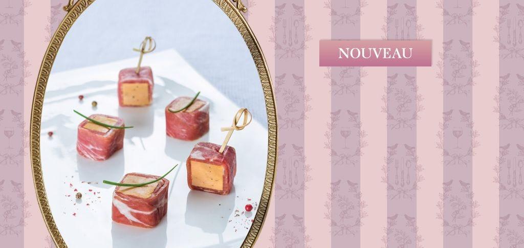 Lingot de foie gras au jambon de Bayonne