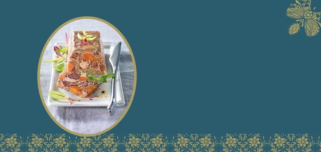 La terrine de boeuf en gelée au foie de canard
