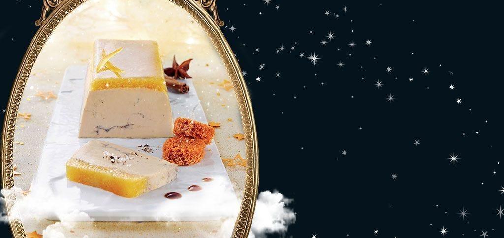 L'étoilé de foie gras de canard mi-cuit, compotée d'orange aux 4 épices