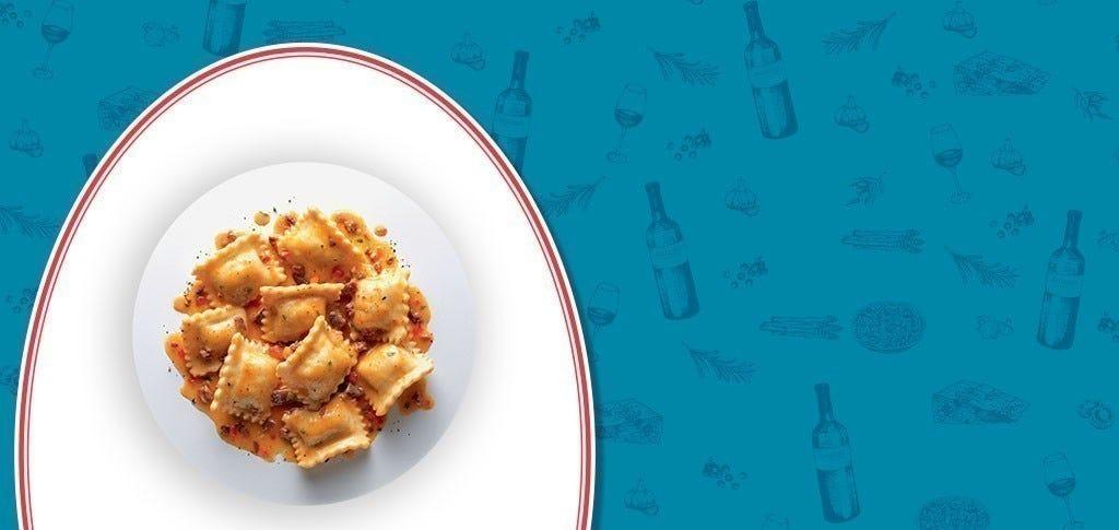Ravioli au confit de canard et à la sauce bolognaise
