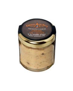 Préparation à base de crème de cèpes à la truffe d'été