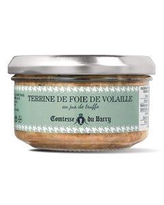 Terrine de foie de volaille au jus de truffes